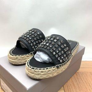1845011a3 Botkier Shoes - Julie Black Jewel Stone Espadrille Sandal